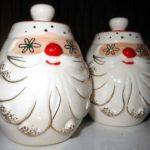 Holt-Howard Starry Eyed Santa Salt & Pepper Shaker set